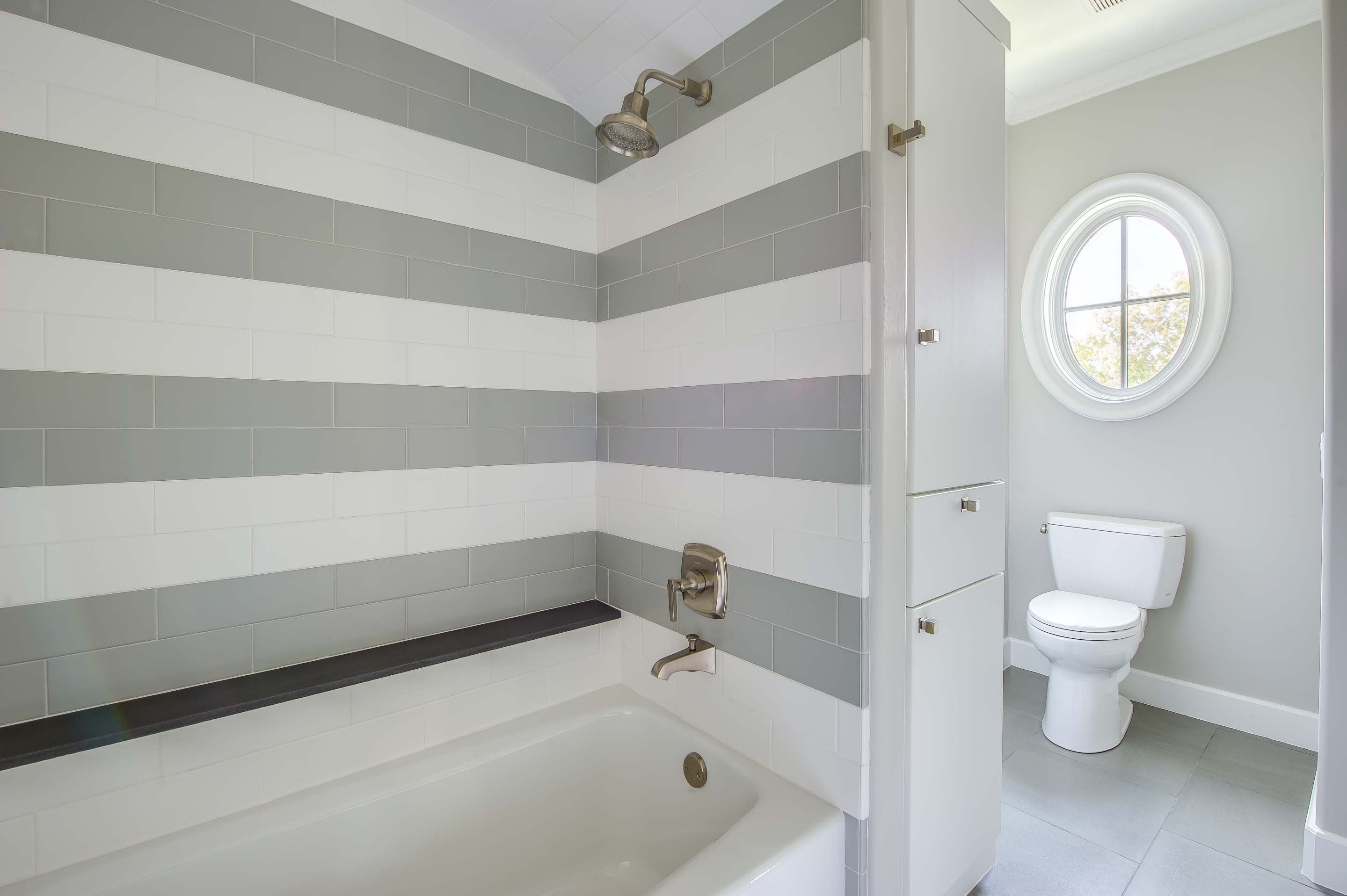 Creative Luxury Showers 31 Brilliant Grey Striped Bathroom Tiles Eyagci Com